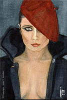 """Red Beret"" by John D Moulton (c. 1984)"